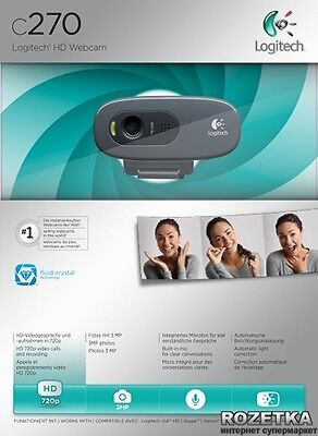 HD WEBCAM C270 Simple 720p video calls and recording
