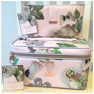 Ted Baker SS17 Jewellery Wash Beauty Large Small Vanity Case Make Up Bag Floral