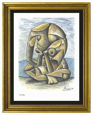 "Pablo Picasso Signed/Hand-Numbered Ltd Ed ""Bather w Book"" Litho Print (unframed)"