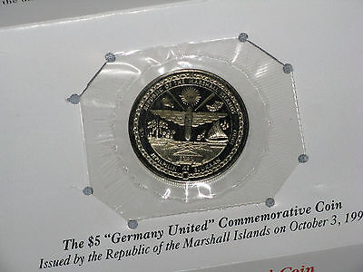 Sealed 1990 Germany Brandenburg Gate $5 Marshall Island Commemorative Medal Coin