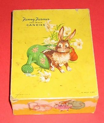 Vintage Fanny Farmer Candies Box  Easter Bright Graphics Bunny Rabbit