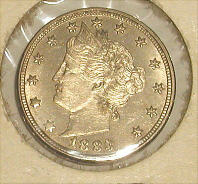 1883 Liberty Head Nickel No Cents High Grade