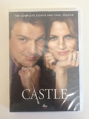 Castle: The Complete Eighth Season 8 (DVD, 2016, 5-Disc Set) Brand New!!