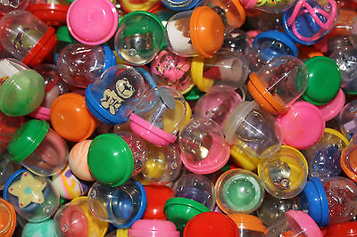 """100 1"""" Toy FILLED Vending Capsules Bulk Premium Mix With 1"""" Bouncy balls"""