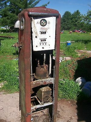 ? MODEL 39 TOKHEIM FULL SIZE GAS PUMP-VINTAGE PETROLIANA STYLE project parts