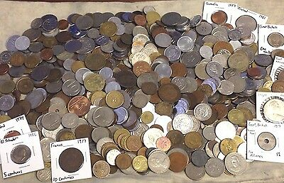 Huge 8 lbs Foreign Coin Mixed Lot - World Coins Collection, Exact group pictured