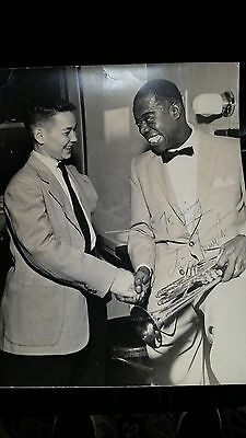 Louis (Satchmo) Armstrong Original Signed Photo