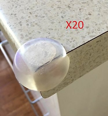20x Baby Child Safety Protector Proofing Soft Table Corner Edge Protection Cover
