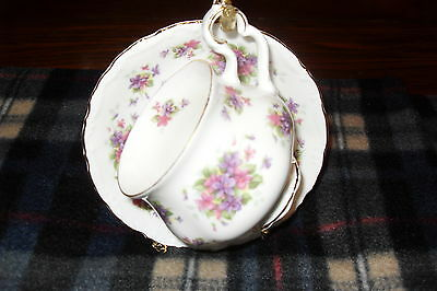 Royal Albert VIOLETTTA  Cup and Saucer   bone china Free shipping in Canada