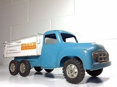 """Vintage Buddy L Tin Toy """"STORE - DOOR - DELIVERY"""" Truck"""