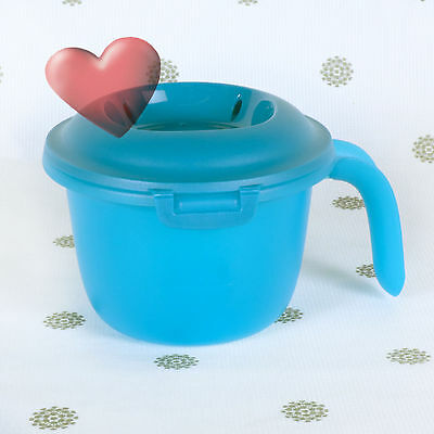 NEW Tupperware Microwave Rice cooker Rice For 1 Individual Serve Aqua Blue