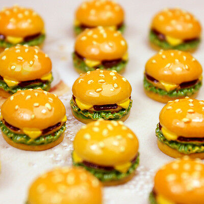 Dollhouse Miniatures Food Hot Sale Hamburger Double Cheese Burger Supply