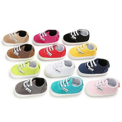 Toddler Baby Boys Girls Kids Shoes Sneakers Baby First Walking Flat Shoes