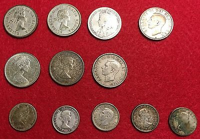 Canada Silver Lot - $2.25 in Face Value Silver – 12 coins