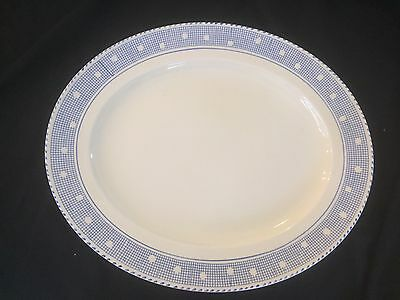Platter - Oval Burleigh Ware England 'tudor' Blue And White Patterned - As New