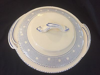 Vegetable Dish Burleigh Ware England 'tudor' Blue And White Patterned - As New