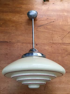 Art Deco Light - UFO/beehive 2/2. Complete and original!