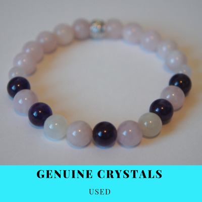 1 Fertility LOVE, HOPE & SUPPORT IVF IUI PCOS Colour Crystal Healing Bracelet