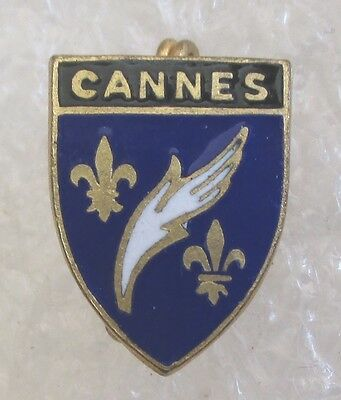 Vintage Cannes, France Travel Souvenir Collector Pin