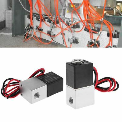 """1/8"""" 2 Way Normally Closed Aluminum Solenoid Valve 12V DC+Wire for Water Air Gas"""
