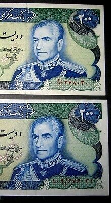 IRAN Set of 2-200 Rials P103C & P103e/XF+ , No Reserve