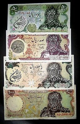 IRAN Set of 4 Revoloution Notes-50-100-500-Rare1000Rials , No Reserve