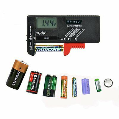 Universal AA/AAA/C/D/9V/1.5V Display Battery Tester Button Cell Volt Checker