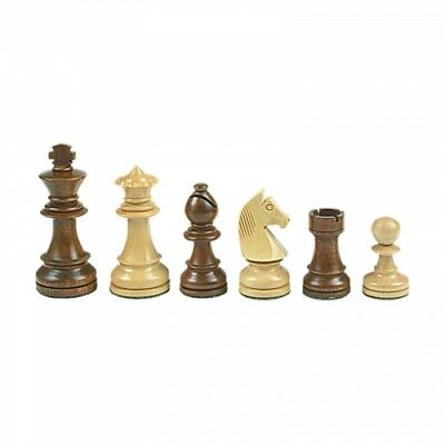 Chess figures - Staunton - brown - Kings height 108 mm - weighted