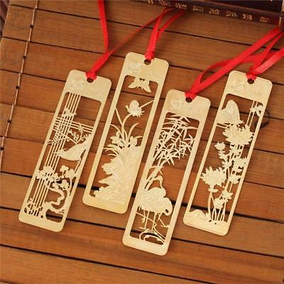 Vintage Chinese Style Metal Cute Bookmarks With Chain Book Markers Gift NEW FI