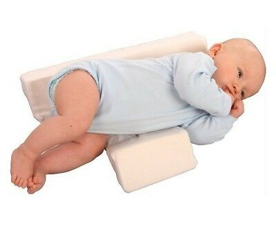 Newborn Baby Sleeping Pillow Cot Bed Two Wedge Anti Roll Positioner Pad
