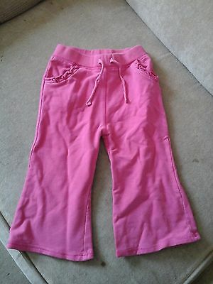 Girl's George Pink Jogging Bottoms - size 1-1 1/2 years