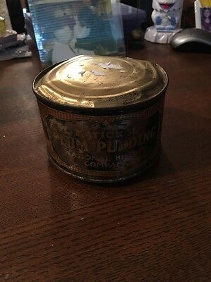 Rare New Old Stock Unopened National Biscuit Company (NaBisCo) Plum Pudding Tin