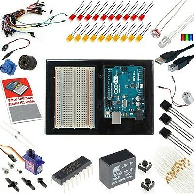 Arduino Starter Kit Uno 3 Learn Circuits Programming Instructions Projects Box