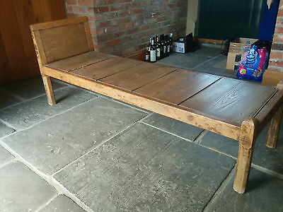Antique pine day bed  bedroom bench