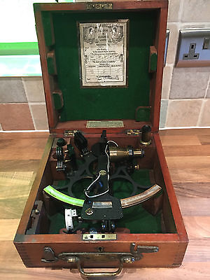 Vintage Henry Hughes & Sons Ships Sextant Maritime Marine Nautical Boat 1952