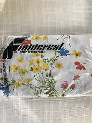Charming Vintage Fieldcrest Full Fitted Sheet in Package Floral Design Brand New