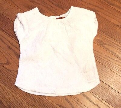 7 For All Mankind White Lace Short Sleeve Shirt Size 2T Girls