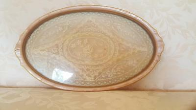 Antique Vanity Tray w/ Lace Insert * Nice!