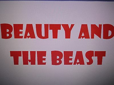 Pantomime Script - 'beauty And The Beast'