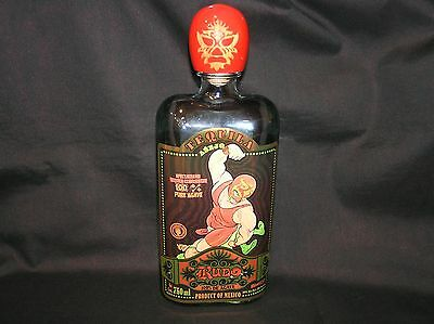 Rudo Anejo De Agave Tequila Wrestler Empty Bottle With Label 750 Ml With Top