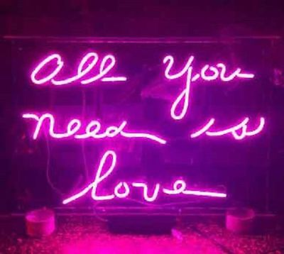 "New All You Need Is Love Lover Neon Sign 20""x16"""