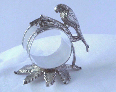 Parrot Figural Napkin Ring, Toronto Silver Plate #1108