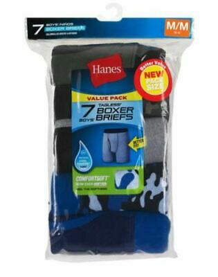 7-Pack Hanes Boys Red Label ComfortSoft Dyed Boxer Briefs - Assorted - XS-XL