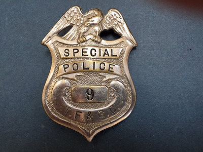Texas or Tennessee ?? Fish and Game Commission ?? Warden Special Police Badge