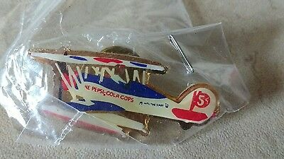 "Pepsi Cola ""Thats the Spot"" Lapel Hat Push Pin Arch Airplane plane Rare VHTF"