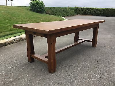Stunning Antique French Farmhouse Refectory Dining Table Golden Oak 336cm