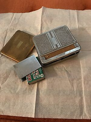 Antique Cigarette Holder/Maker. Real Silver Match Box Case From Sweden