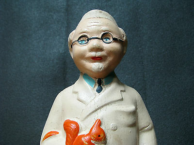 1950s VTG SOVIET RUSSIAN DOLL TOY FIGURINE RUBBER OLD DOCTOR RED CROSS AYBOLIT