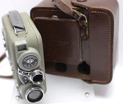 Eumig C3 8mm Movie Film Camera w/ Case **Read** For Display - Made In Austria