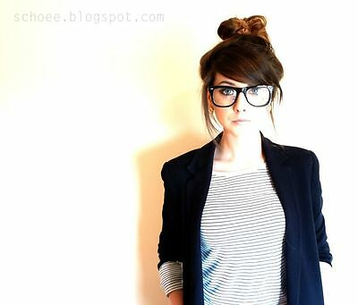 Black Hot Unisex Clear Lens Nerd Stylish Glasses New Hot Fashion Candy Color